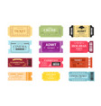 collection of colorful tickets vector image vector image