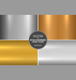 collection realistic metallic textures shiny vector image vector image