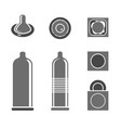 condoms pictograms vector image