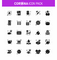 covid19-19 icon set for infographic 25 solid glyph vector image vector image