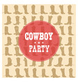 cowboy party card vector image vector image