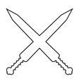 Crossed gladius swords icon vector image vector image
