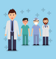 doctors staff hospital professional people vector image vector image