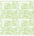 Doodle city streets seamless pattern background vector image