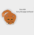 error 404 page not available cat broke the cord vector image