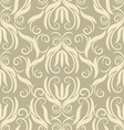 floral beige seamless pattern vector image vector image