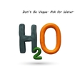 Formula of water H2O vector image