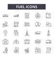 fuel icons line icons for web and mobile design vector image