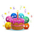funny cartoon childish birthday card vector image vector image