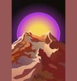 futuristic landscape background mountain vector image vector image