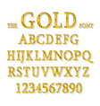 golden alphabet with show lamps vector image vector image