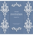 gray christmas vintage invitation card vector image