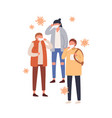 group people in protective masks flat vector image vector image