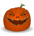 halloween poster with cutted pumpkin jack lantern vector image vector image