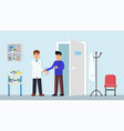 handshake a doctor with patient vector image vector image