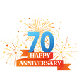 Happy anniversary celebration with fireworks vector image