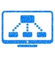 Hierarchy Monitor Grainy Texture Icon vector image vector image
