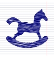 Horse toy sign vector image