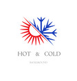 hot and cold wallpaper vector image vector image