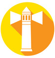icon lighthouse with a long shadow vector image