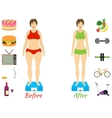 Infographic of fitness and sport healthy vector image vector image