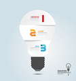 infographic Template with Light bulbs paper cut vector image vector image