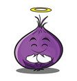 innocent red onion character cartoon vector image vector image