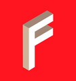 isometric letter f vector image vector image