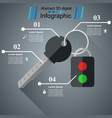 key and alarm icon bisiness infographic vector image vector image