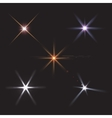 lens flares star lights vector image