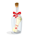 Love letter in a bottle vector image vector image