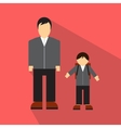 Man and children flat icon vector image vector image