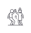 man and woman are dancing line icon concept man vector image vector image