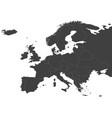 map of europe with russia vector image vector image