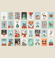 merry christmas banners set new year sticky label vector image