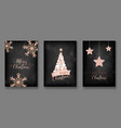 merry christmas cards with christmas balls 2019 vector image vector image