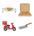 pizza and food sign vector image
