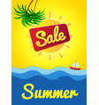 poster hello summer banner sale summer sunny day vector image