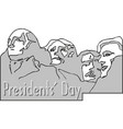 presidents day rushmore usa landscape background vector image vector image