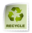 recycle post stamp vector image