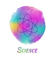 Science Watercolor Concept vector image vector image
