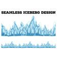 Seamless iceberg design with high peaks vector image vector image