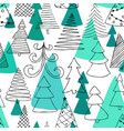 seamless pattern of hand drawn sketch christmas vector image vector image