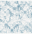 seamless pattern with butterflies in grunge style vector image vector image