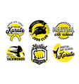 set icons for martial arts school banners vector image