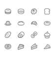 set of bakery black icon on white background