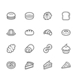 set of bakery black icon set on white background vector image