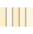 set of different seamless patterns white