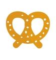 Soft pretzel isolated icon vector image vector image
