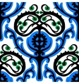 Suzani ethnic pattern with Kazakh motifs vector image vector image